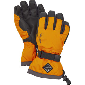 Hestra Gauntlet CZone 5 Finger Gloves Kids, orange/graphite